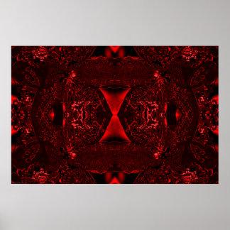 """MULADHARA"" Abstract Psychedelic Root Chakra Art Posters"