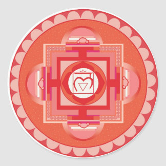 Mūlādhāra Mandala Chakra (root chakra) Round Sticker
