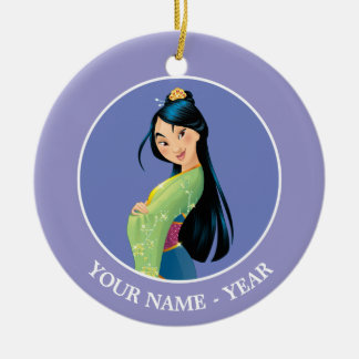 Mulan | Mulan Hands Crossed Add Your Name Christmas Ornament