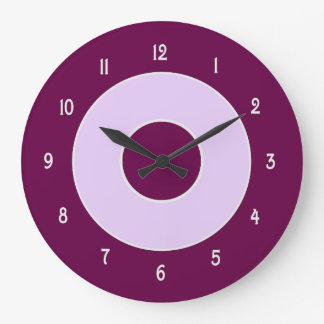 Mulberry and Lilac Wall Clock