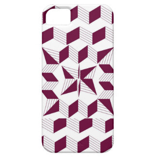 Mulberry Angled Lines iPhone 5 Covers