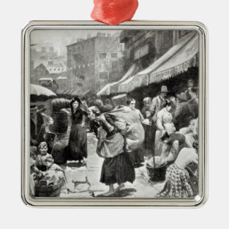 Mulberry Bend Italian Colony in New York Christmas Ornament