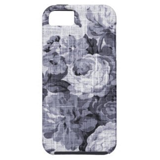 Mulberry Blue Purple Vintage Floral Toile No.4 Tough iPhone 5 Case