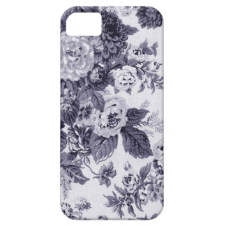 Mulberry Blue Vintage Floral Toile Fabric No.3 Barely There iPhone 5 Case