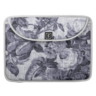 Mulberry Blue Vintage Floral Toile No.5 Sleeve For MacBooks