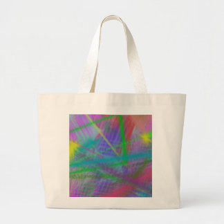 Mulberry Day Dream Pastel Color Ricochet Abstract Canvas Bag