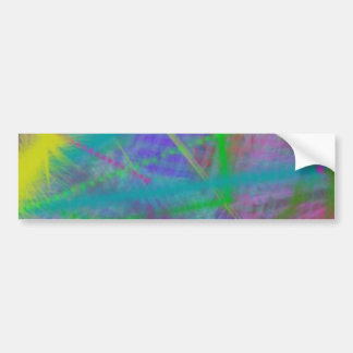 Mulberry Day Dream Pastel Color Ricochet Abstract Bumper Sticker