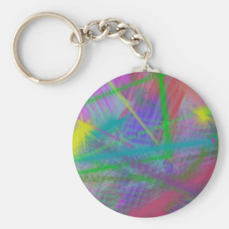 Mulberry Day Dream Pastel Color Ricochet Abstract Keychains