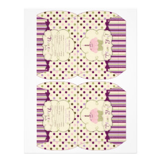 Mulberry Dot Candy Box Template 21.5 Cm X 28 Cm Flyer