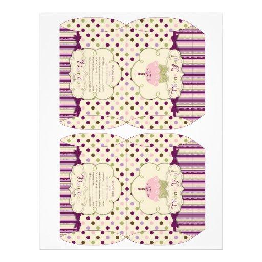 Mulberry Dot Candy Box Template Custom Flyer