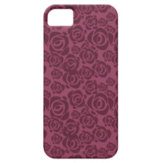 Mulberry Rose Pattern iPhone 5 Cases