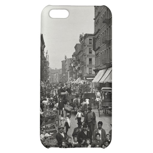 Mulberry Street in New York City, ca. 1900 iPhone 5C Covers