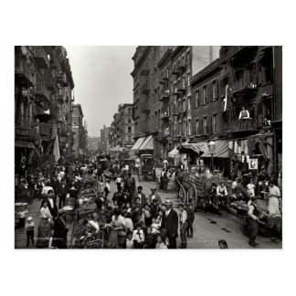 Mulberry Street in New York City ca 1900 Post Card