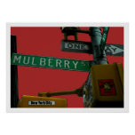 """Mulberry Street: Little Italy"" New York City  Poster"