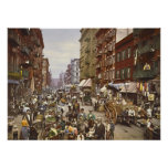 Mulberry Street Market New York City 1900