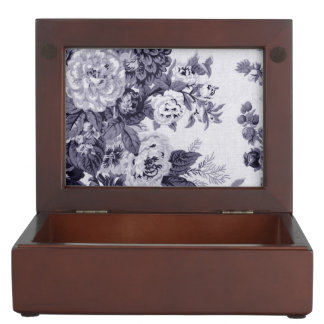 Mulberry Tone Black & White Vintage Floral Toile 4 Memory Box