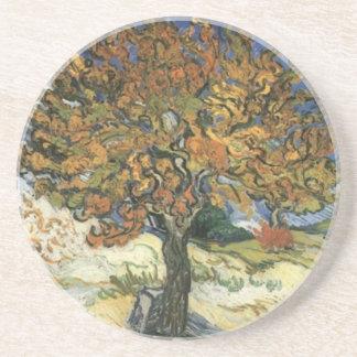 Mulberry Tree by van Gogh Sandstone Coaster
