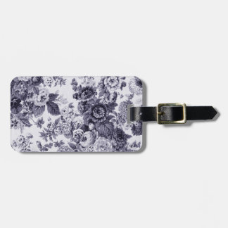 Mulberry Vintage Botanical Floral Toile No.3 Luggage Tag