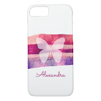Mulberry Watercolor Butterfly Personalized iPhone 8/7 Case