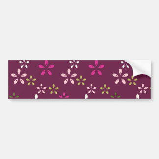 Mulberry Wine Purple and Pink Floral Pattern Gifts Bumper Sticker