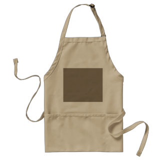 Mulch Brown in an English Country Garden Adult Apron