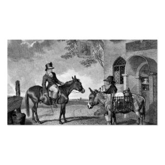 Mule and Donkey Black and White Pack Of Standard Business Cards