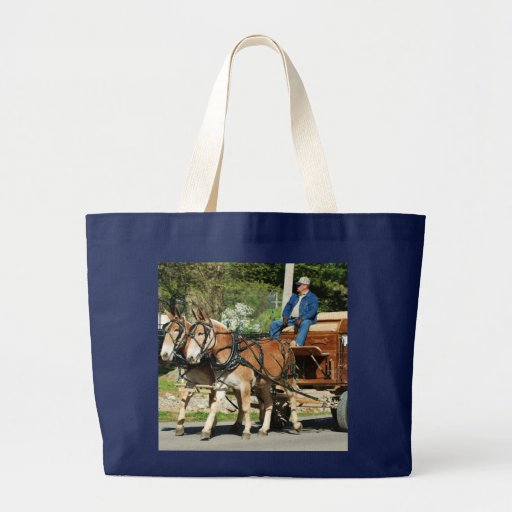 mule day parade canvas bags