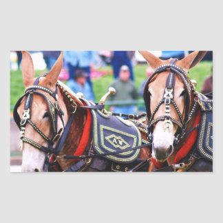 mule days rectangular sticker