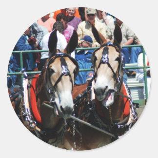 mule days round sticker