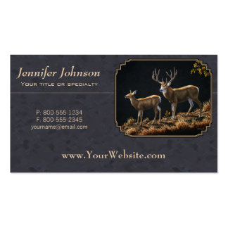 Mule Deer Buck and Doe Double-Sided Standard Business Cards (Pack Of 100)