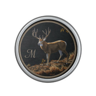 Mule Deer Buck Autumn Trophy Antlers Monogram Speaker