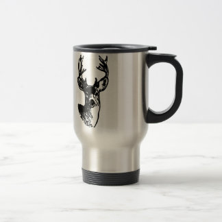 Mule Deer Buck (line art) Travel Mug