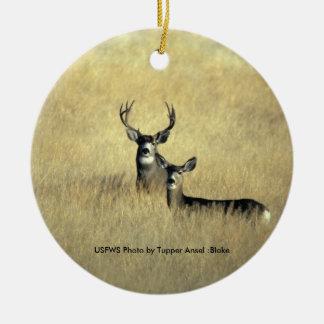 Mule Deer Christmas Ornament