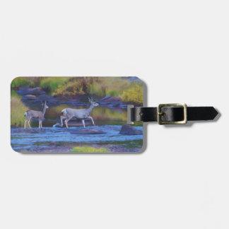 Mule Deer Doe and Fawn Bag Tag