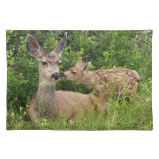 Mule Deer Doe with Fawn 2 Placemat