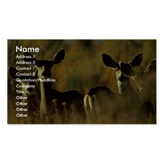 Mule Deer Herd Business Card Templates