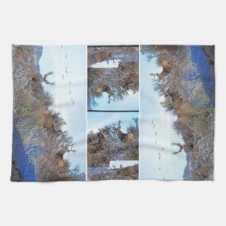 Mule deer photo art tea towel