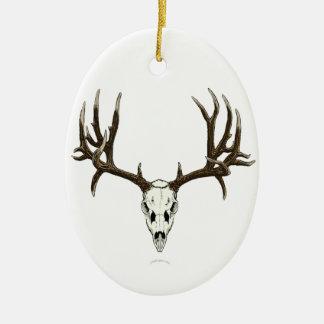 Mule deer skull christmas ornament