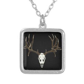 Mule deer skull necklace