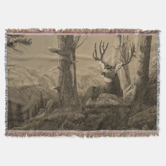 Mule Deer Throw Blanket