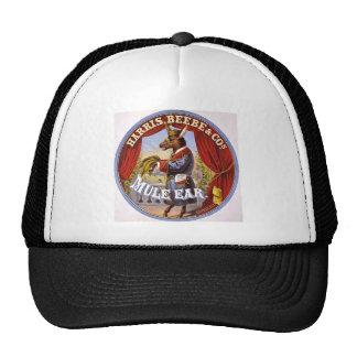 Mule Ear Tobacco Ad Vintage 1868 Mesh Hat