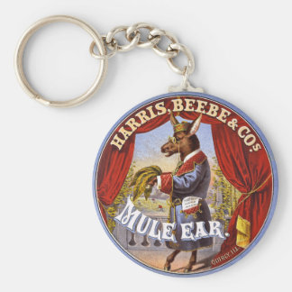 Mule Ear Tobacco Ad Vintage 1868 Basic Round Button Key Ring