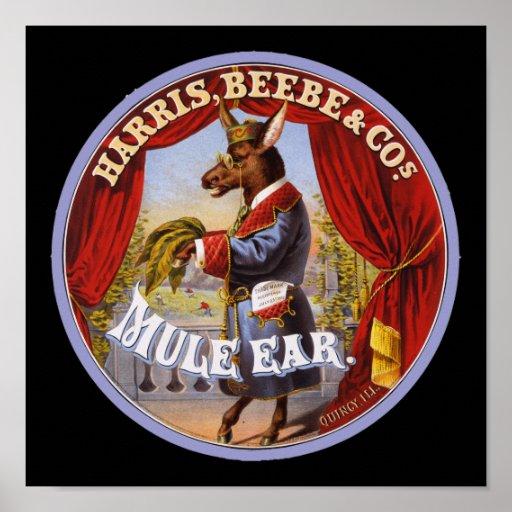 Mule Ear tobacco Poster