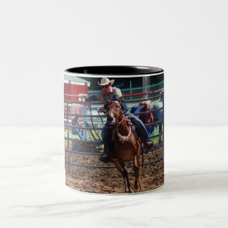 mule in pole bending class coffee mugs