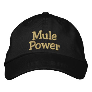 Mule Power Embroidered Baseball Caps
