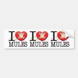 Mules Love Man Bumper Sticker