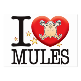 Mules Love Man Pack Of Chubby Business Cards