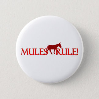 Mules Rule Silhouette 6 Cm Round Badge
