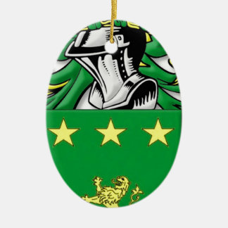 Mulhall Coat of Arms Ceramic Oval Decoration