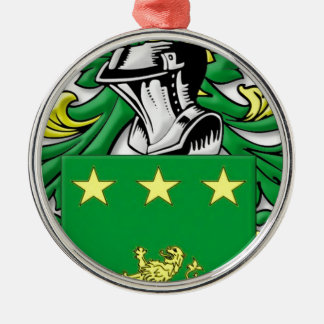 Mulhall Coat of Arms Christmas Tree Ornaments